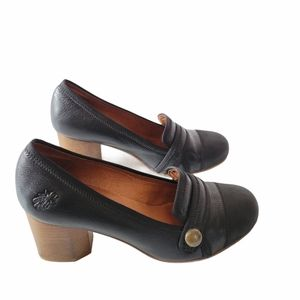 Fly London Leather High Heel Shoes Black Size 37.